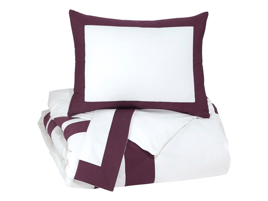 Signature Design Bedding SetsQueen Daruka Duvet Cover Set