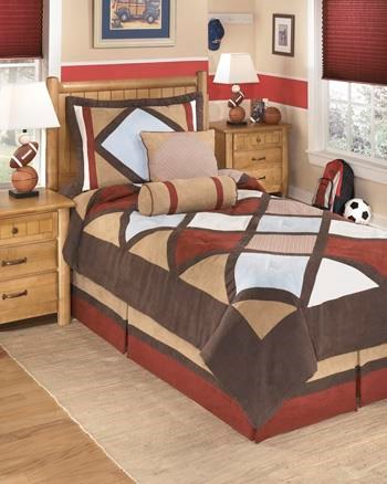 Ashley (Signature Design) Bedding SetsTwin Academy Multi Top of Bed Set