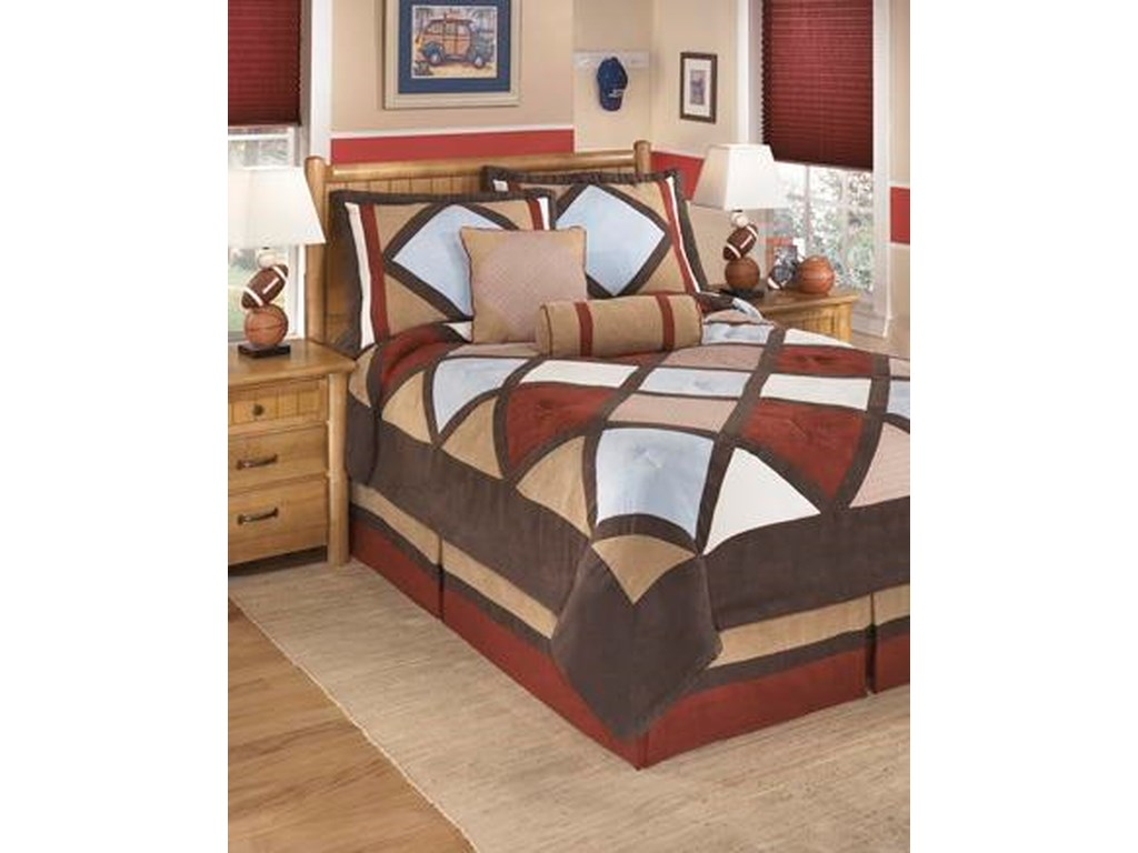 Signature Design By Ashley Bedding Sets Full Academy Multi Top Of
