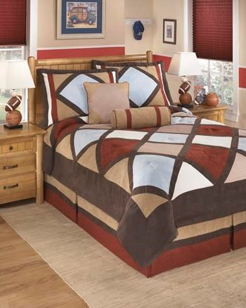 Ashley (Signature Design) Bedding SetsFull Academy Multi Top of Bed Set