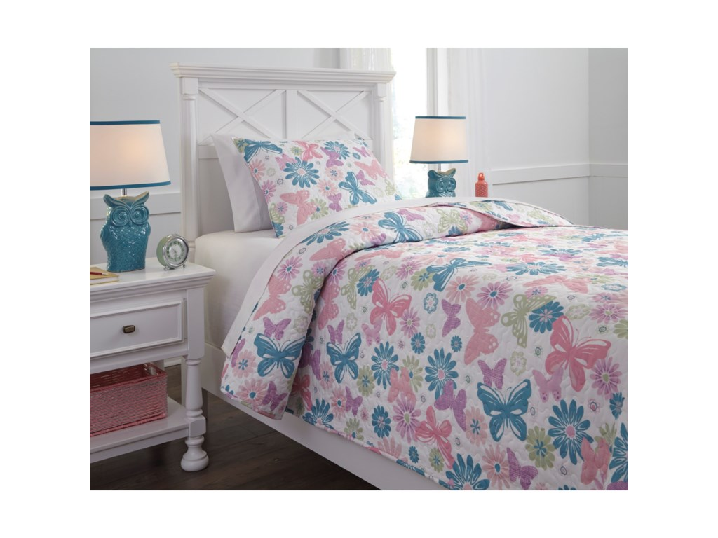 Signature Design by Ashley Bedding SetsTwin Jobeth Quilt Set