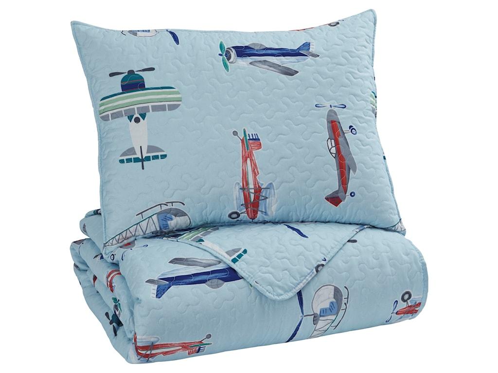Ashley (Signature Design) Bedding SetsTwin McAllen Quilt Set