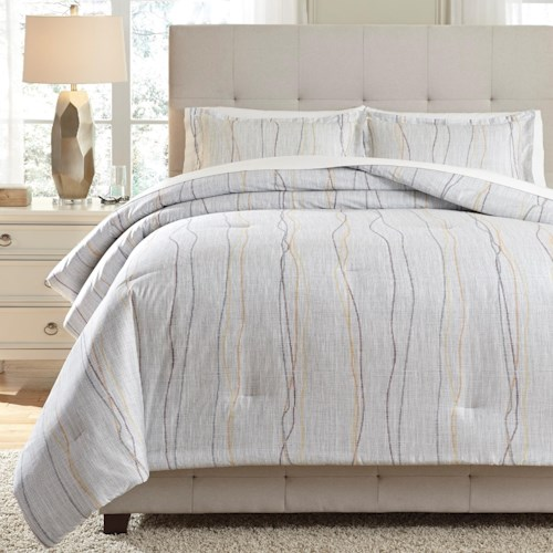 Signature Design by Ashley Bedding Sets Queen Bevan Multi Comforter Set