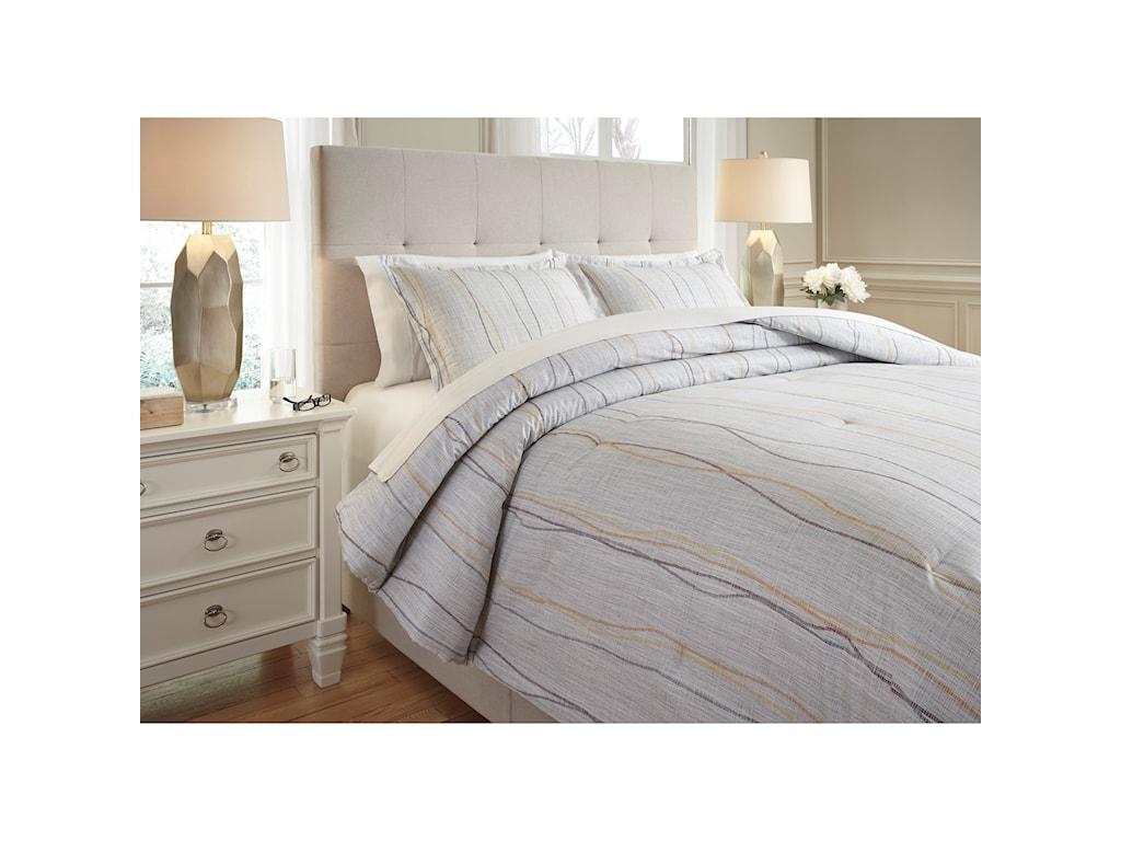 Signature Design by Ashley Bedding SetsQueen Bevan Multi Comforter Set