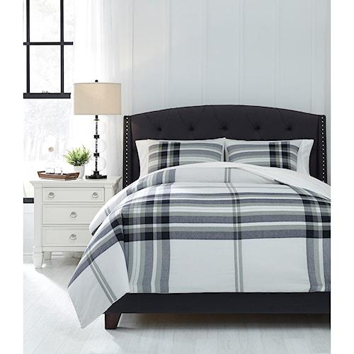Signature Design by Ashley Bedding Sets King Stayner Black/Gray Comforter Set