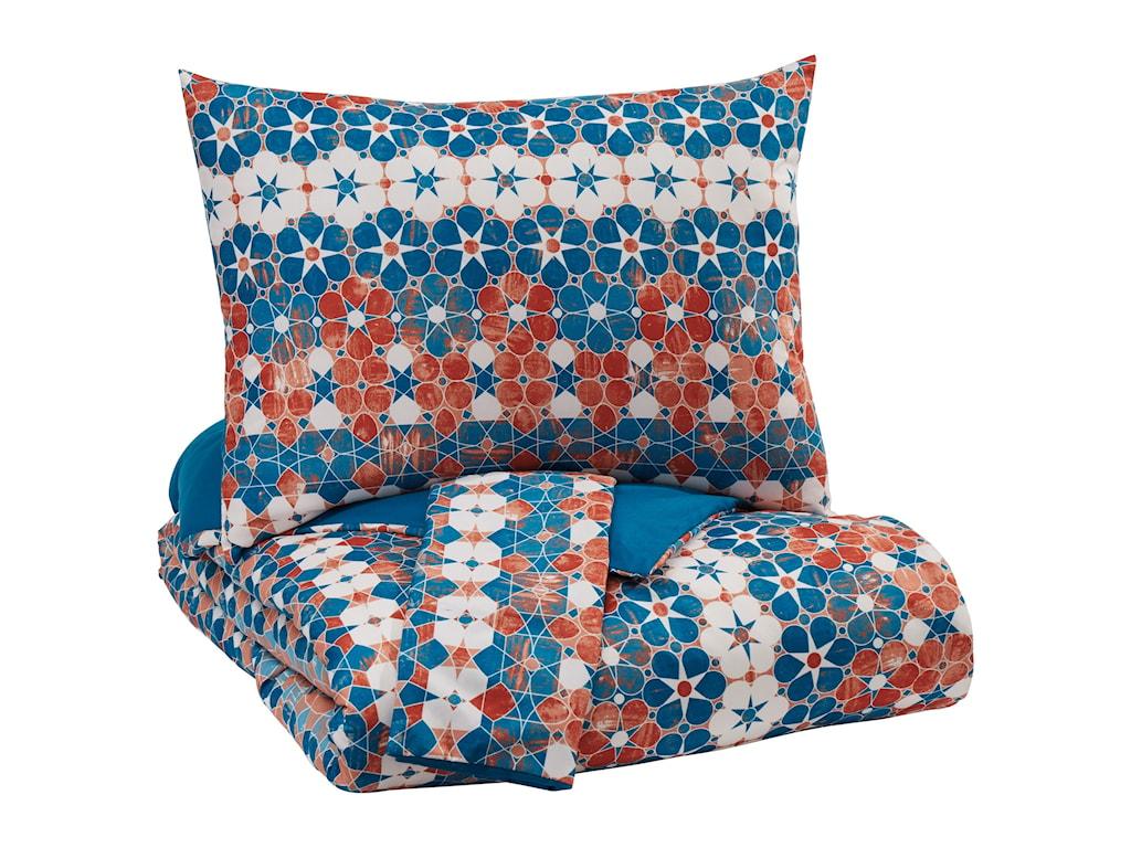 Ashley (Signature Design) Bedding SetsKing Jackalyn Multi Comforter Set