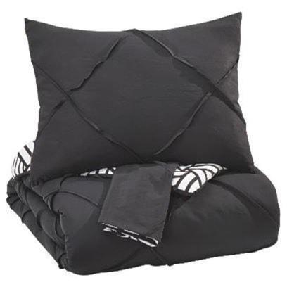 Ashley (Signature Design) Bedding SetsQueen Jaylee Black Comforter Set