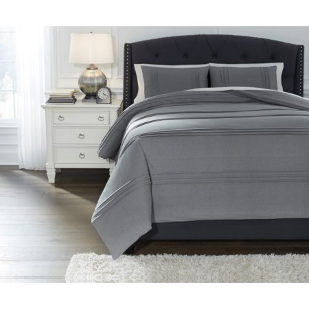 Queen Mattias Slate Blue Comforter Set