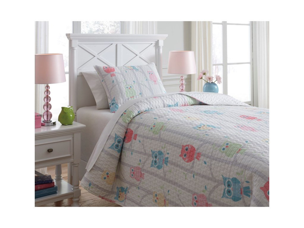 Signature Design by Ashley Bedding SetsTwin Lucille Multi Coverlet Set