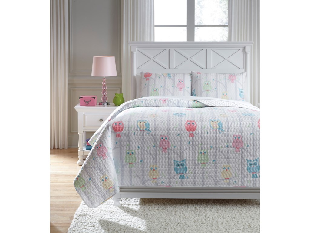 Signature Design by Ashley Bedding SetsFull Lucille Multi Coverlet Set