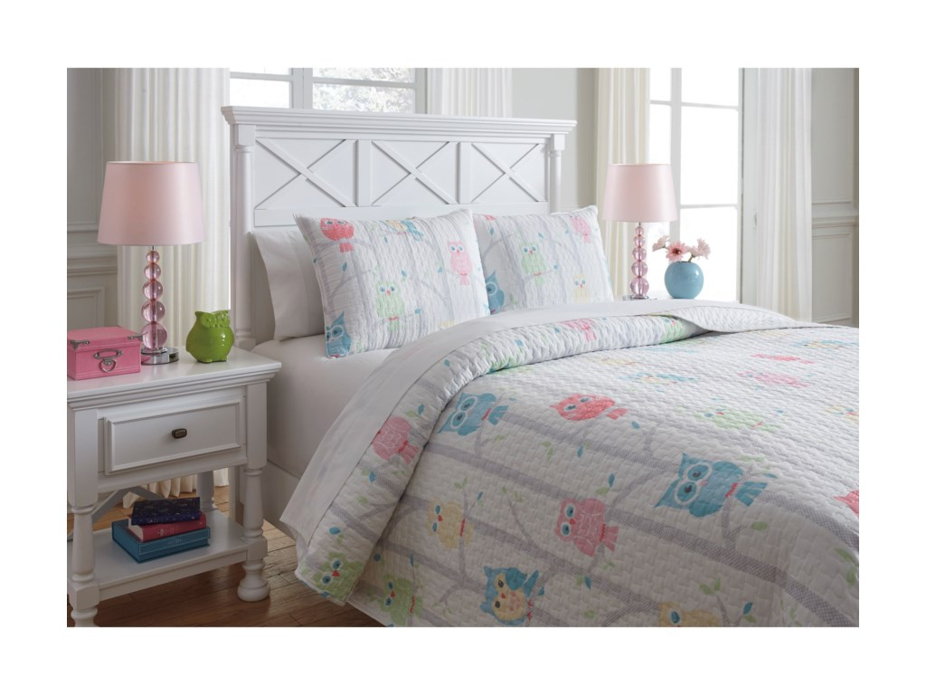 Ashley (Signature Design) Bedding SetsFull Lucille Multi Coverlet Set