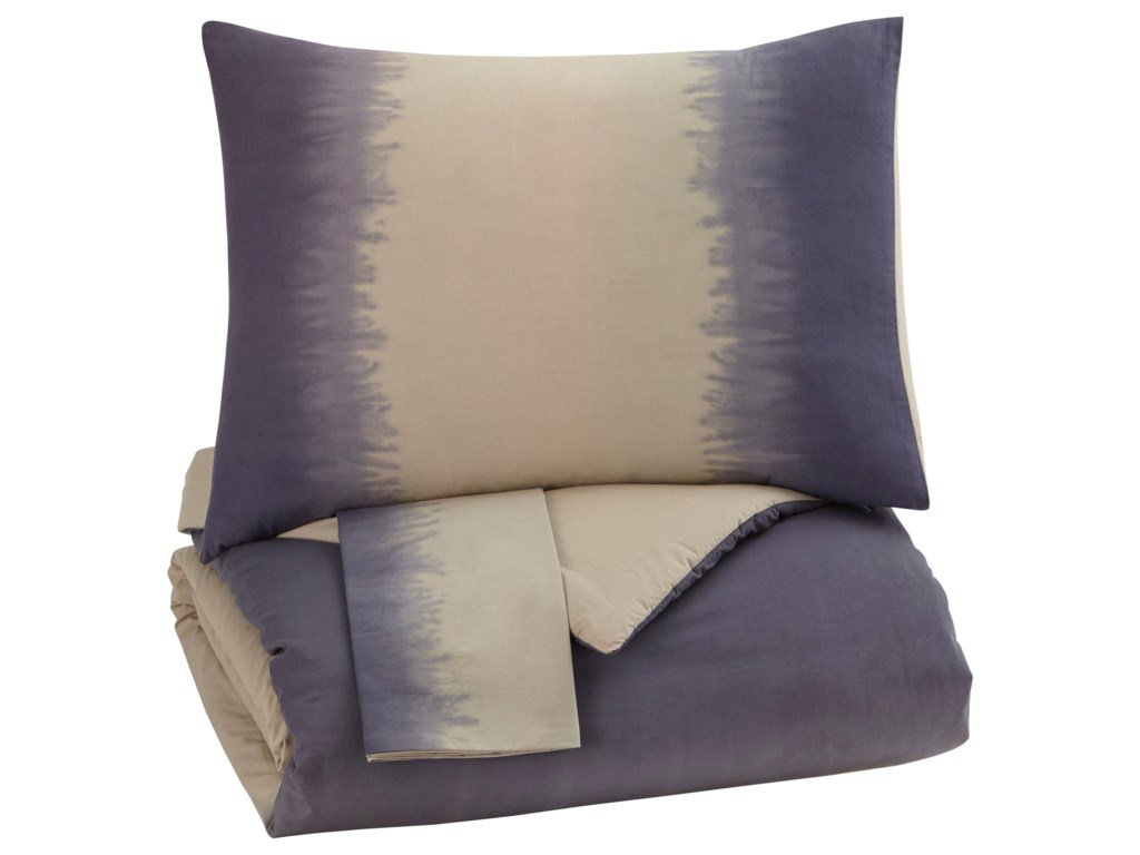 Signature Design by Ashley Bedding SetsQueen Brandon Indigo Comforter Set