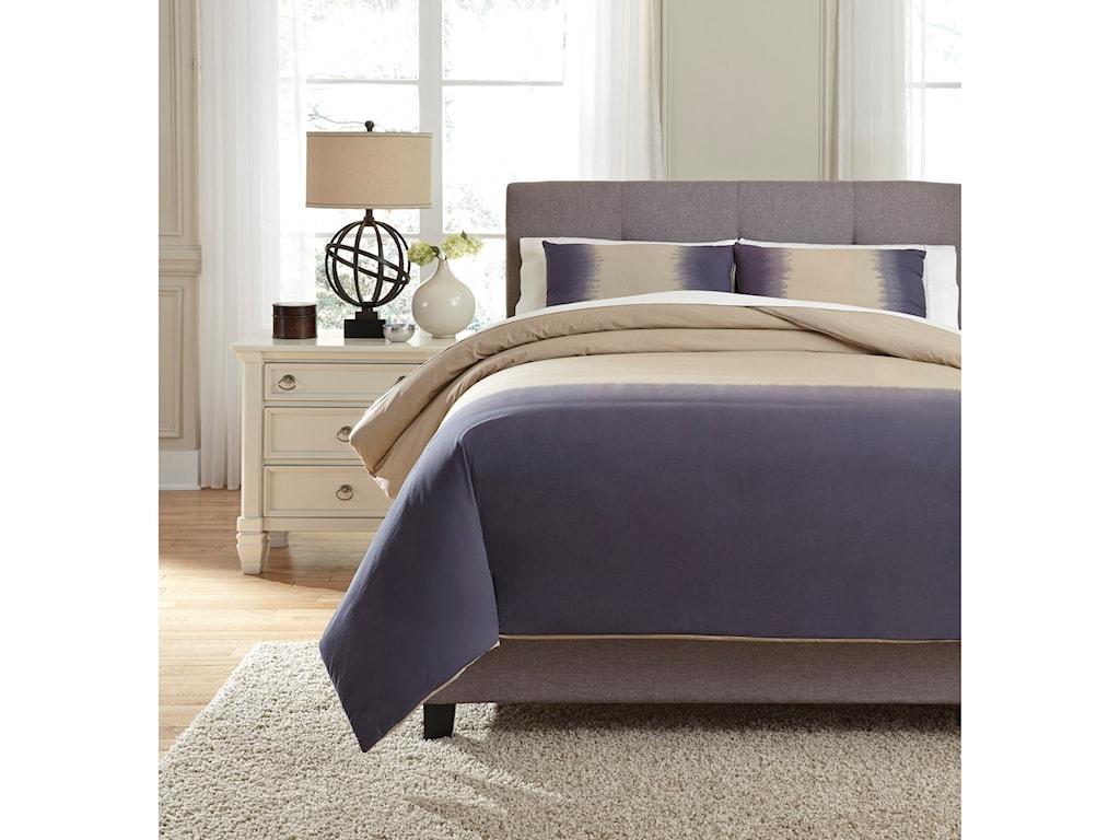 Signature Design by Ashley Bedding SetsKing Brandon Indigo Comforter Set