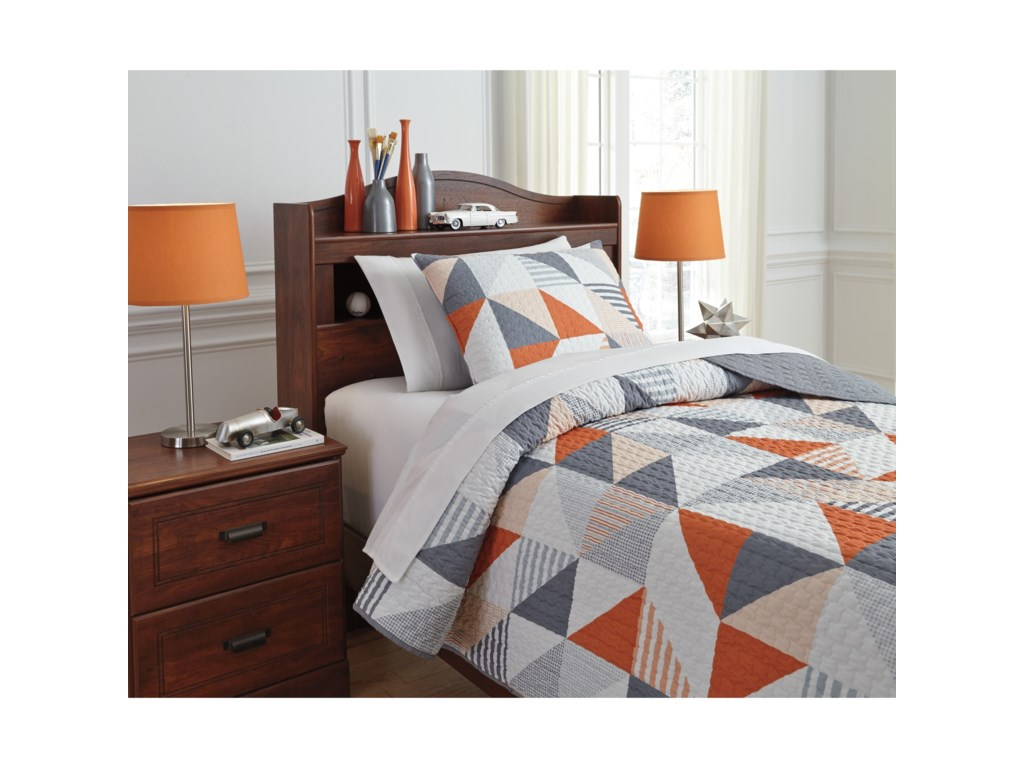 Signature Design by Ashley Bedding SetsTwin Layne Multi Coverlet Set