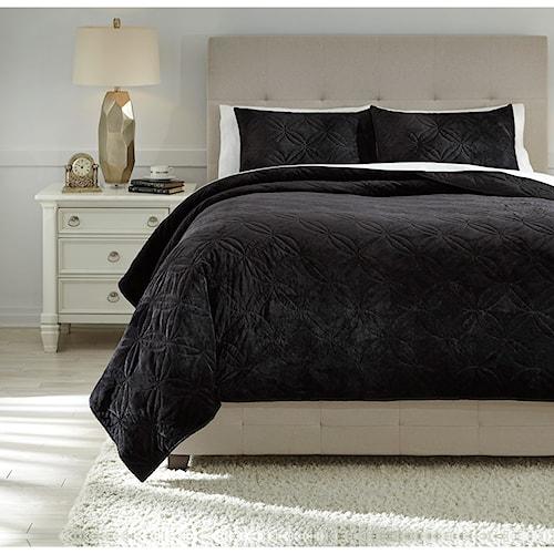 Signature Design by Ashley Bedding Sets Queen Linette Quilt Set