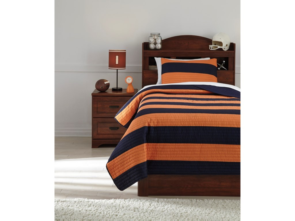 Signature Design By Ashley Bedding Sets Twin Nixon Navyorange