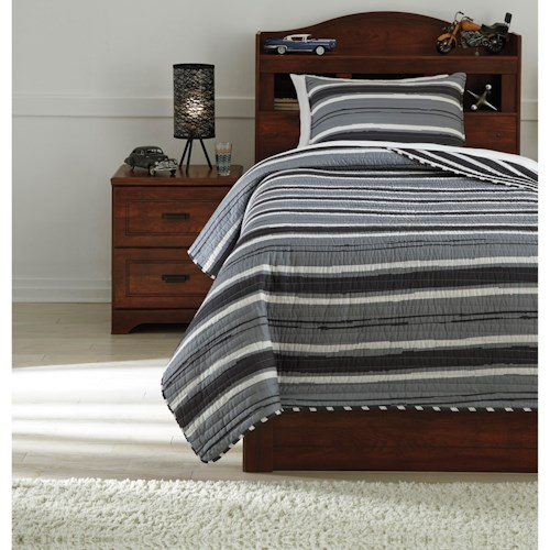 Signature Design by Ashley Bedding Sets Twin Merlin Coverlet Set