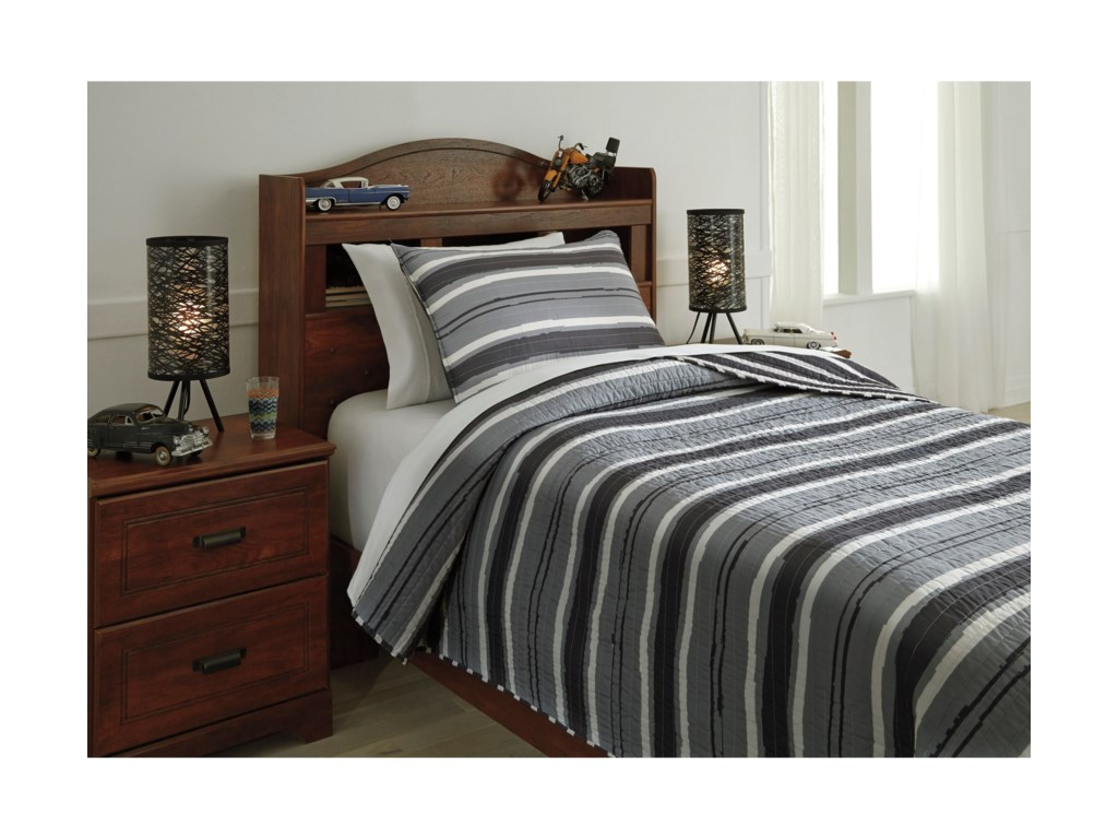 Signature Design by Ashley Bedding SetsTwin Merlin Coverlet Set