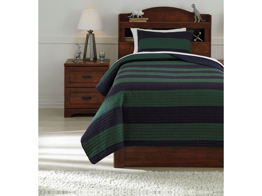 Signature Design by Ashley Bedding SetsTwin Reggie Coverlet Set