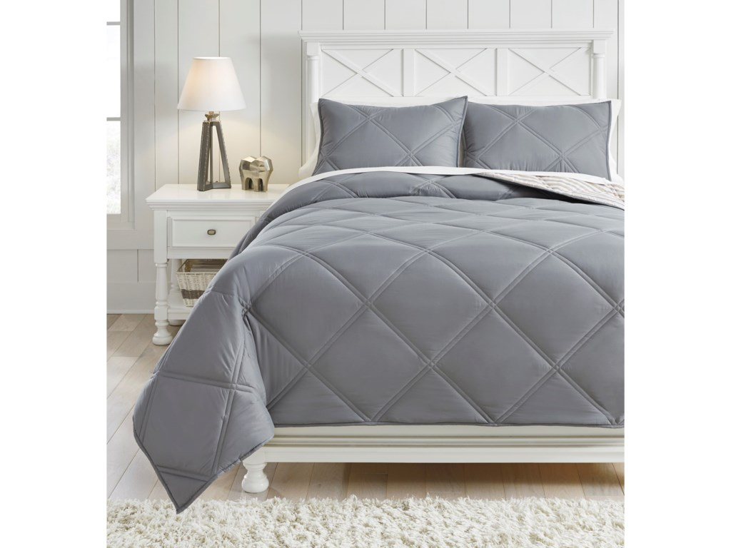Signature Design by Ashley Bedding SetsFull Rhey Tan/Brown/Gray Comforter Set