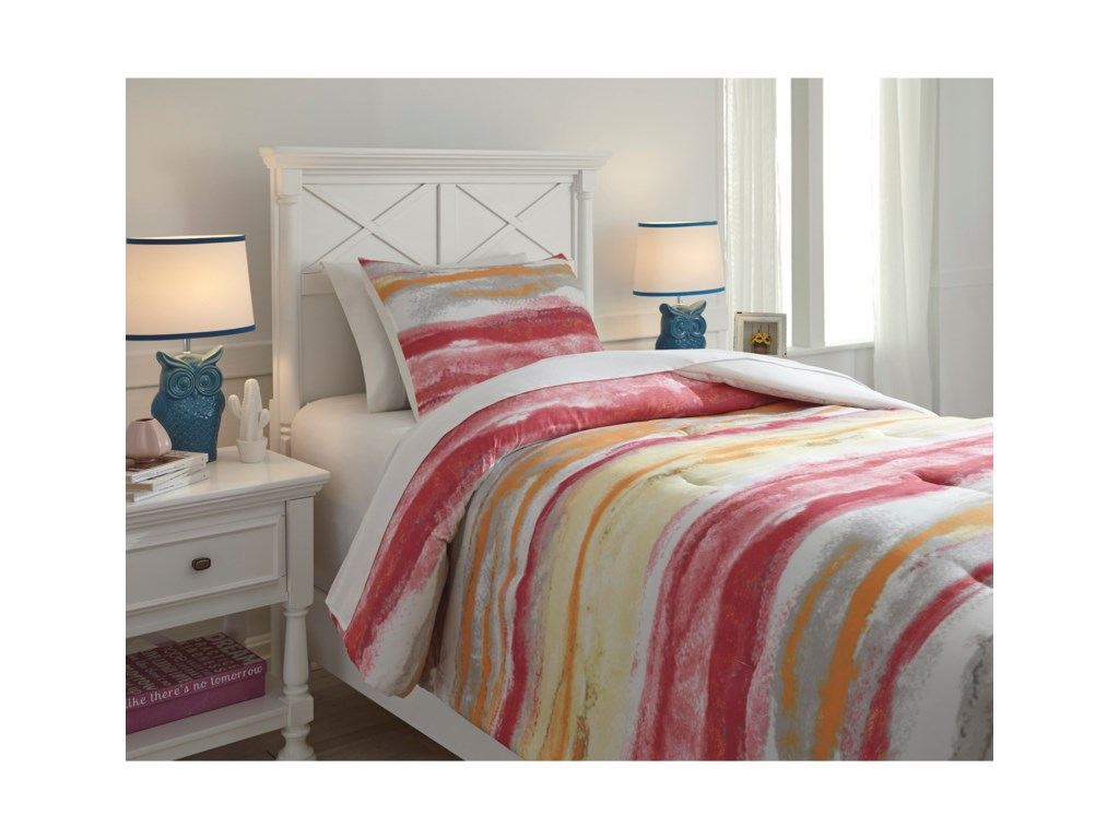 Trendz Bedding SetsTwin Tammy Pink/Orange Comforter Set