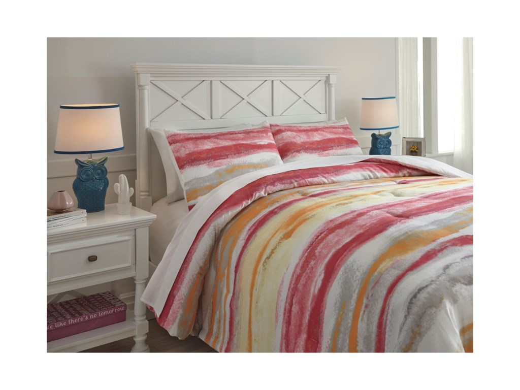Signature Design by Ashley Bedding SetsFull Tammy Pink/Orange Comforter Set