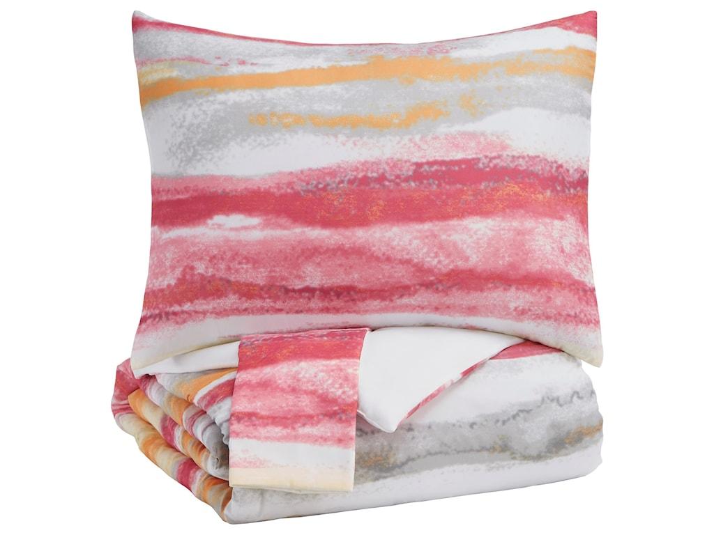 Signature Design by Ashley Bedding SetsFull Tammy Pink/Orange Comforter Set