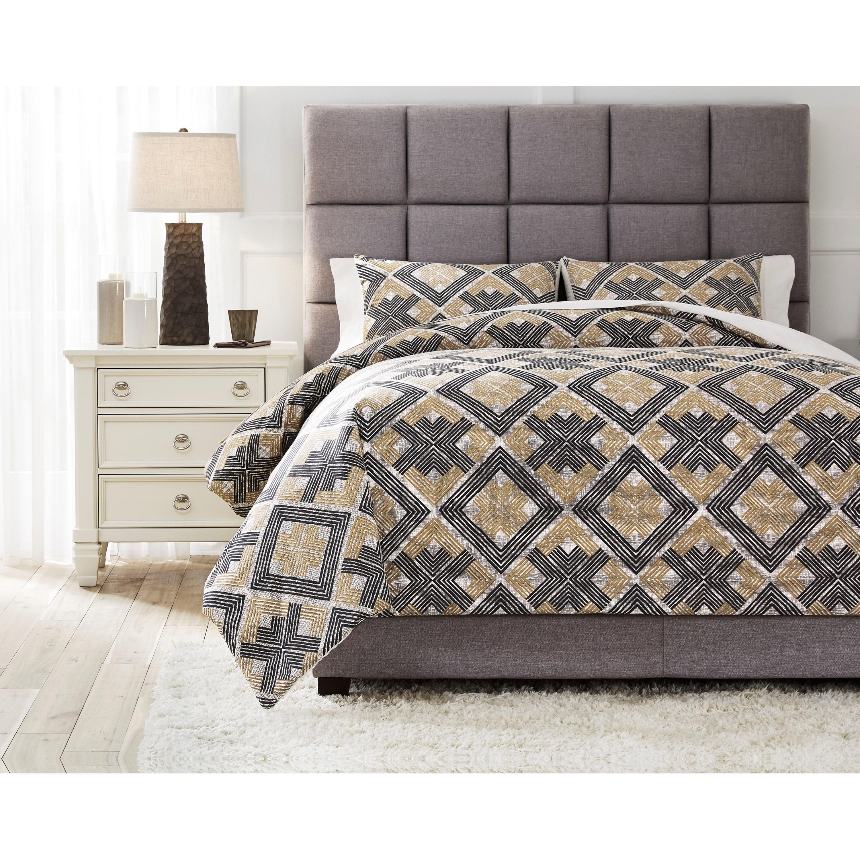 King Scylla Brown/Black Comforter Set