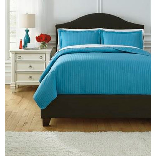 Signature Design by Ashley Bedding Sets Queen Raleda Turquoise Comforter Set