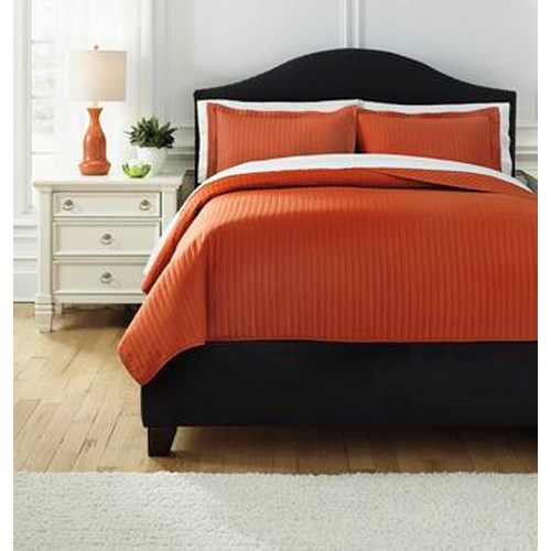 Signature Design by Ashley Bedding Sets King Raleda Orange Comforter Set