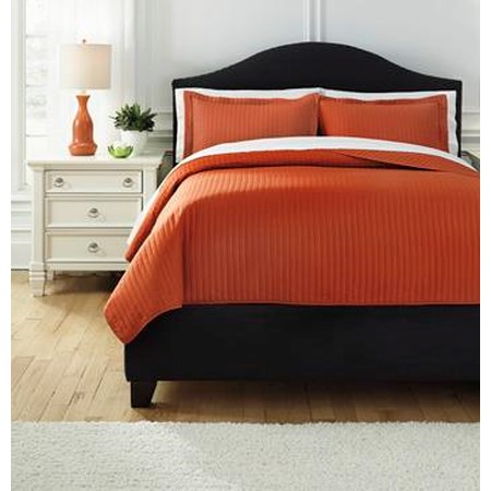Queen Raleda Orange Coverlet Set