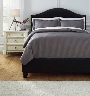 Signature Design by Ashley Bedding Sets King Raleda Gray Comforter Set
