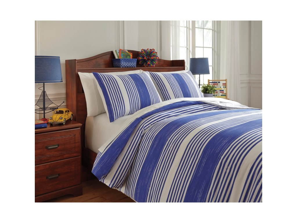 Signature Design by Ashley Bedding SetsFull Taries Blue Duvet Cover Set