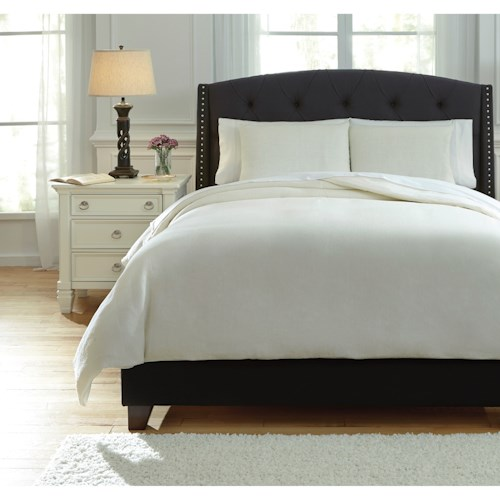 Signature Design by Ashley Bedding Sets King Bergen Ivory Duvet Cover Set