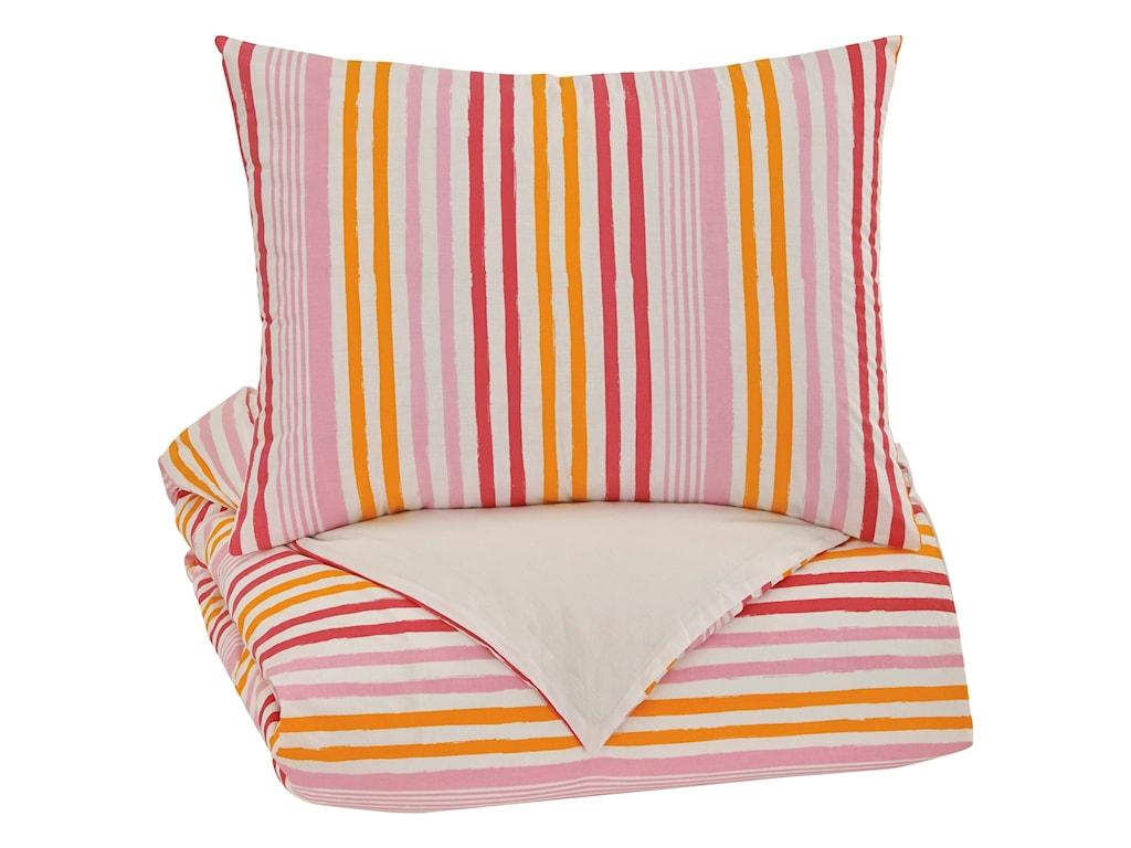 Ashley (Signature Design) Bedding SetsTwin Genista Multi Duvet Cover Set