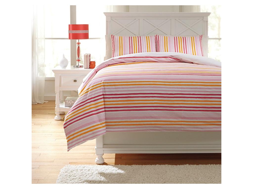 Ashley (Signature Design) Bedding SetsFull Genista Multi Duvet Cover Set