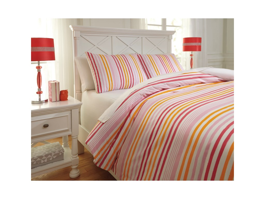 Signature Design by Ashley Bedding SetsFull Genista Multi Duvet Cover Set