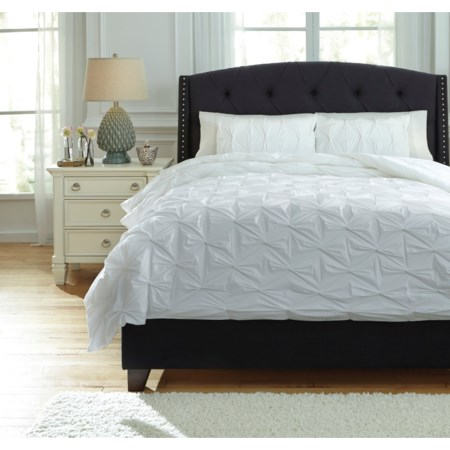 Queen Rimy White Comforter Set