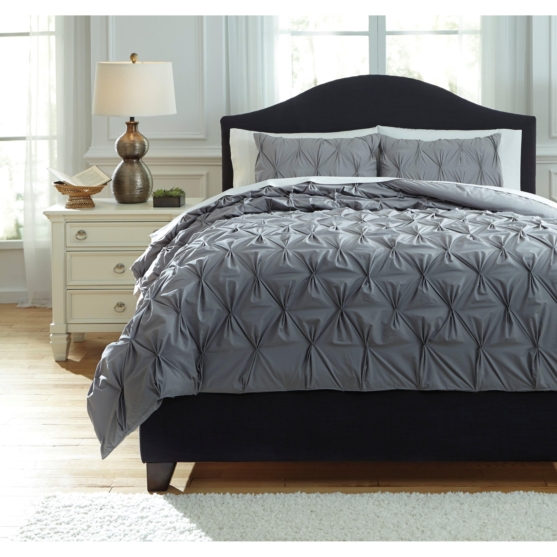 King Rimy Gray Comforter Set