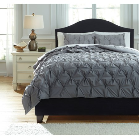 Queen Rimy Gray Comforter Set