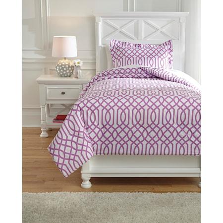 Twin Loomis Lavender Comforter Set