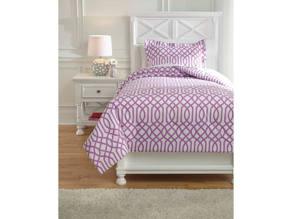 Signature Design by Ashley Bedding SetsTwin Loomis Lavender Comforter Set