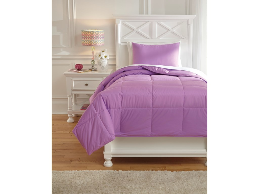 Signature Design by Ashley Bedding SetsTwin Plainfield Lavender Comforter Set