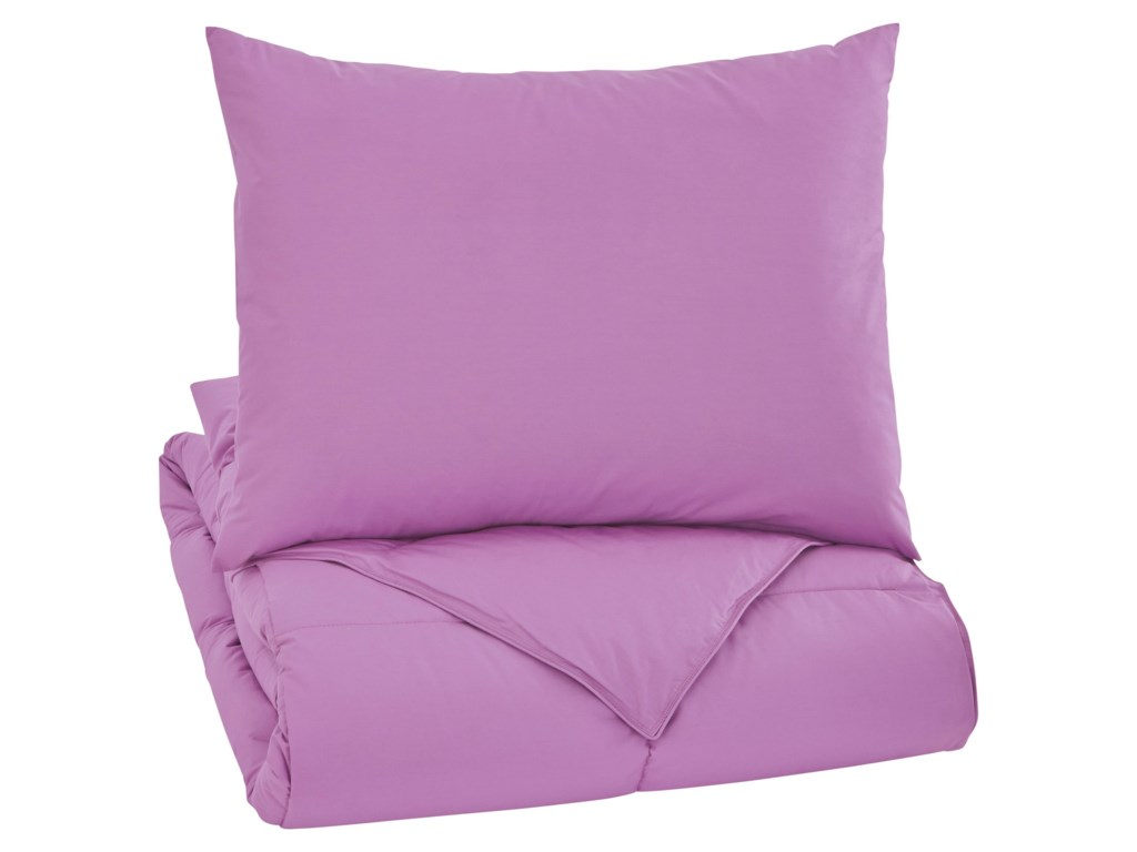 Signature Design by Ashley Bedding SetsTwin Plainfield Lavender Comforter Set