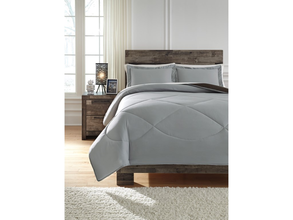 Signature Design by Ashley Bedding SetsFull Massey Gray/Black Comforter Set