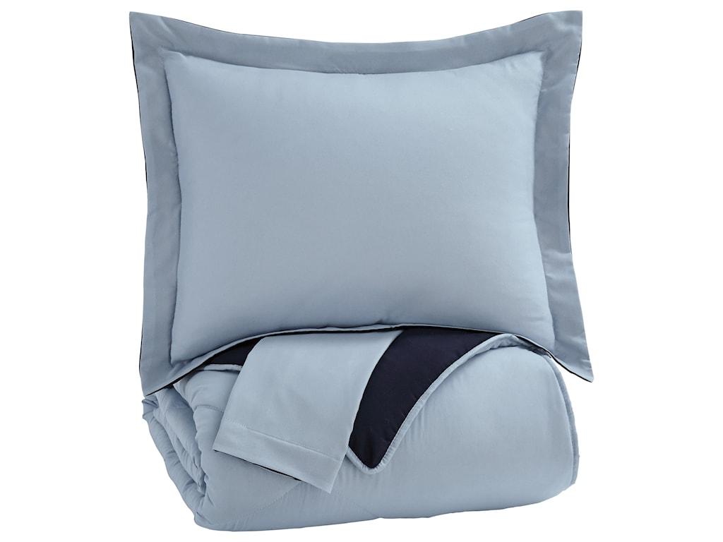 Signature Design by Ashley Bedding SetsFull Massey Blue Comforter Set