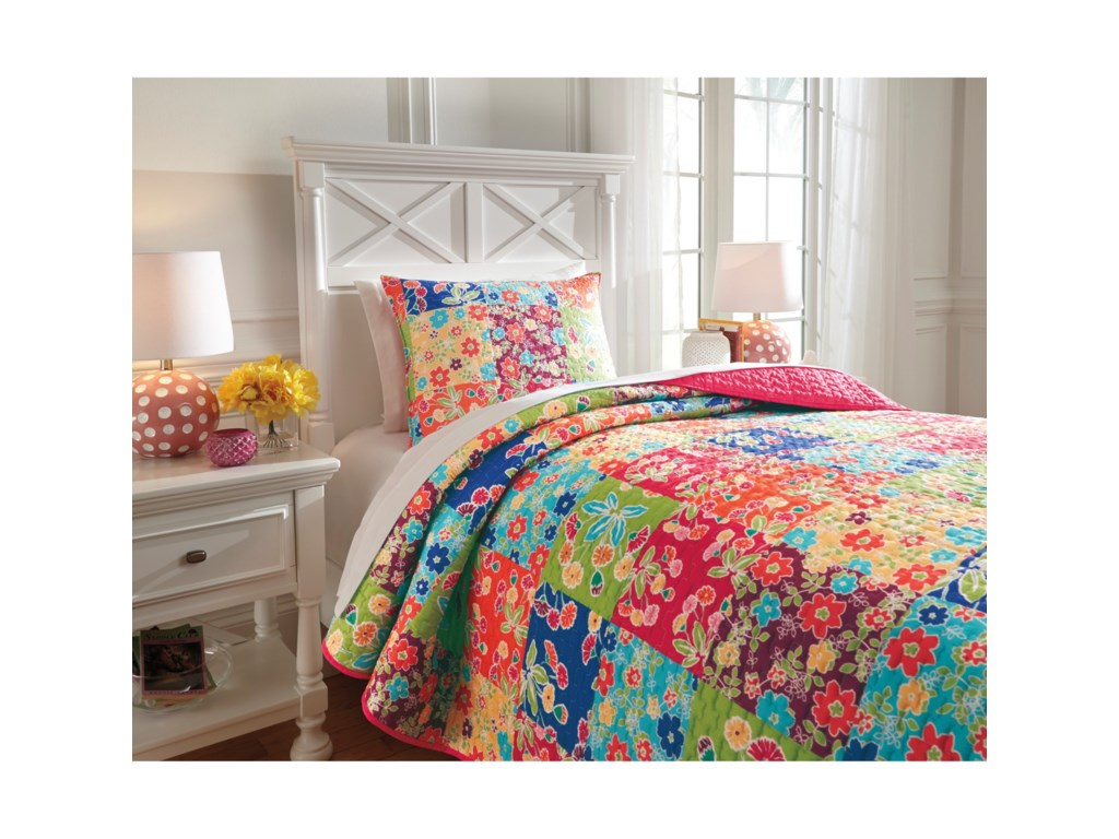Signature Design by Ashley Bedding SetsTwin Belle Chase Quilt Set