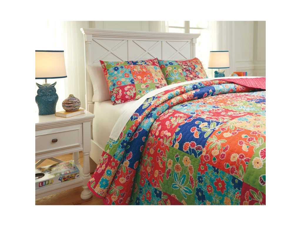 Signature Design by Ashley Bedding SetsFull Belle Chase Quilt Set