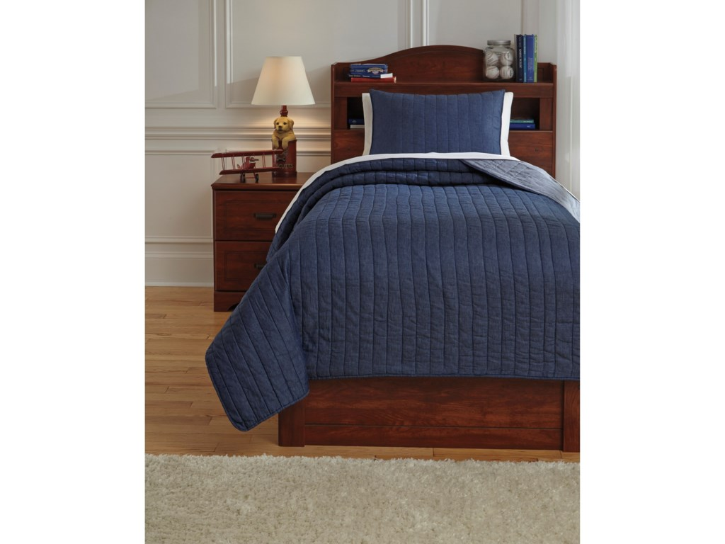Signature Design by Ashley Bedding SetsTwin Capella Denim Quilt Set
