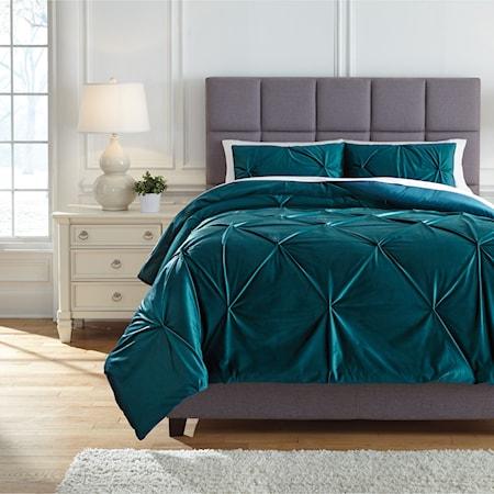Queen Meilyr Spruce Comforter Set